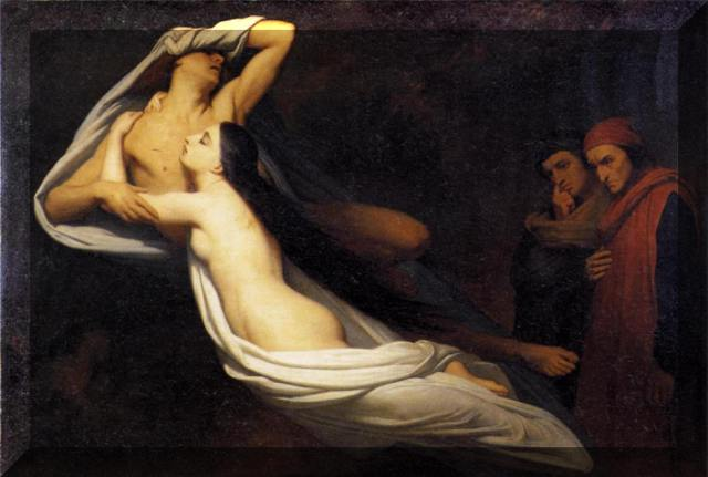 Paolo e Francesca Ari Scheffer - 1835